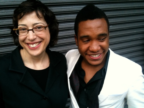 ARTnews Executive Editor with Moise J from the Gallery Club