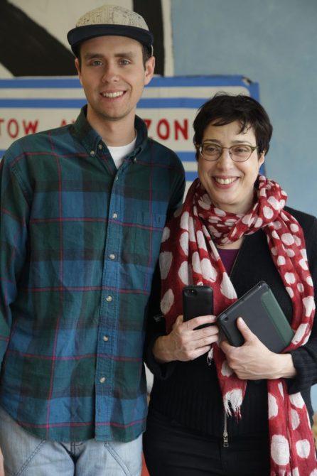 Social Media Intern Alex Mahany with Robin Cembalest of Niborama. Photo: Vince Maximin