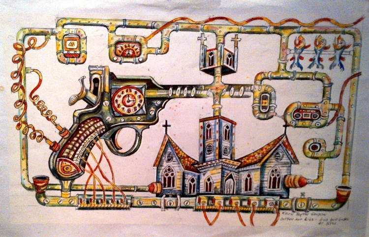 Coffee & Cigs - God and Guns by Kevin Blythe Sampson